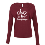 Love Language - Drapey 2x1 Long Sleeve Top Essential Oil Style young living tshirts funny oil shirts popular oil shirts doterra tshirts convention shirts