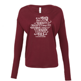 Serenity (Oil) Prayer - Drapey 2x1 Long Sleeve Top Essential Oil Style young living tshirts funny oil shirts popular oil shirts doterra tshirts convention shirts