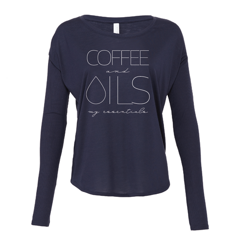 COFFEE and OILS: my essentials - Drapey 2x1 Long Sleeve Top