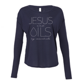 JESUS and OILS: my essentials - Drapey 2x1 Long Sleeve Top Essential Oil Style young living tshirts funny oil shirts popular oil shirts doterra tshirts convention shirts
