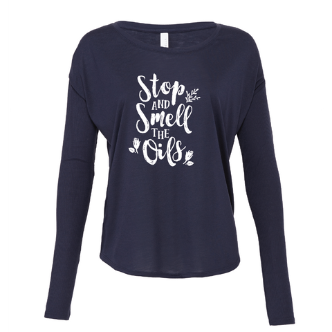 Stop and Smell the Oils - Drapey 2x1 Long Sleeve Top