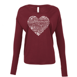 Whimisical Heart - Drapey 2x1 Long Sleeve Top (Outlet) Essential Oil Style young living tshirts funny oil shirts popular oil shirts doterra tshirts convention shirts
