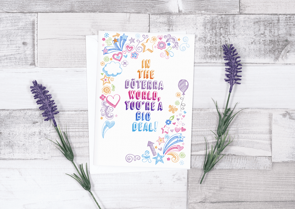 • Essential Oil Greeting Cards - In doTERRA World, You're a Big Deal | 5pk (Overstock)