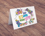 • Essential Oil Greeting Cards - Yay, It's About Fucking Time | 5pk (overstock)