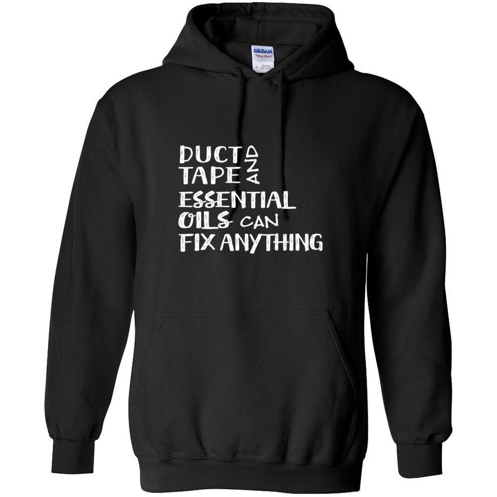 Duct Tape - - Hoodie Sweatshirt | 12 Colors | up to 5XL Essential Oil Style young living tshirts funny oil shirts popular oil shirts doterra tshirts convention shirts