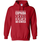 COPAIBA: Legal in all 50 States - Hoodie Sweatshirt | 12 Colors | up to 5XL Essential Oil Style young living tshirts funny oil shirts popular oil shirts doterra tshirts convention shirts