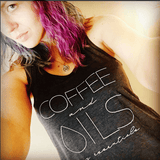 • COFFEE and OILS: my essentials - Tank (Outlet Product) Essential Oil Style young living tshirts funny oil shirts popular oil shirts doterra tshirts convention shirts