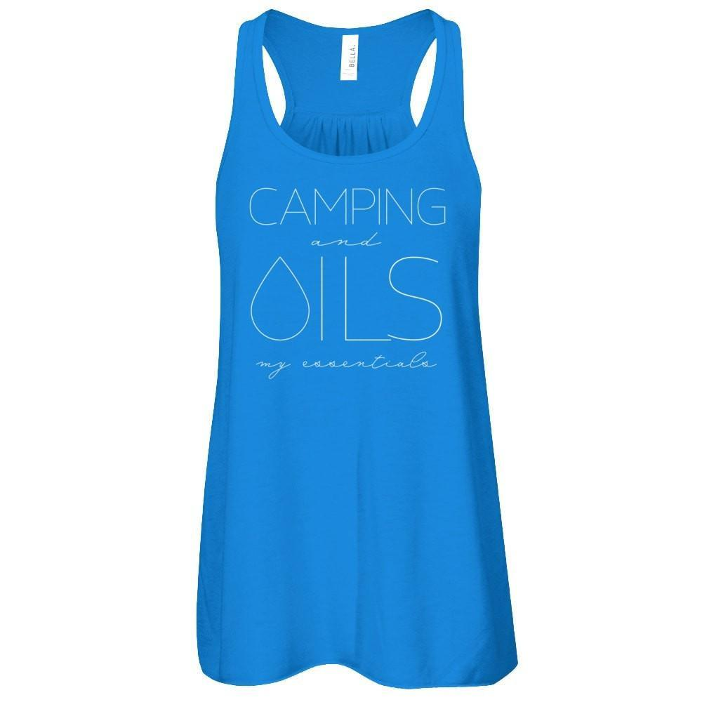 • CAMPING and OILS: my essentials - Tank (Outlet Product) Essential Oil Style young living tshirts funny oil shirts popular oil shirts doterra tshirts convention shirts