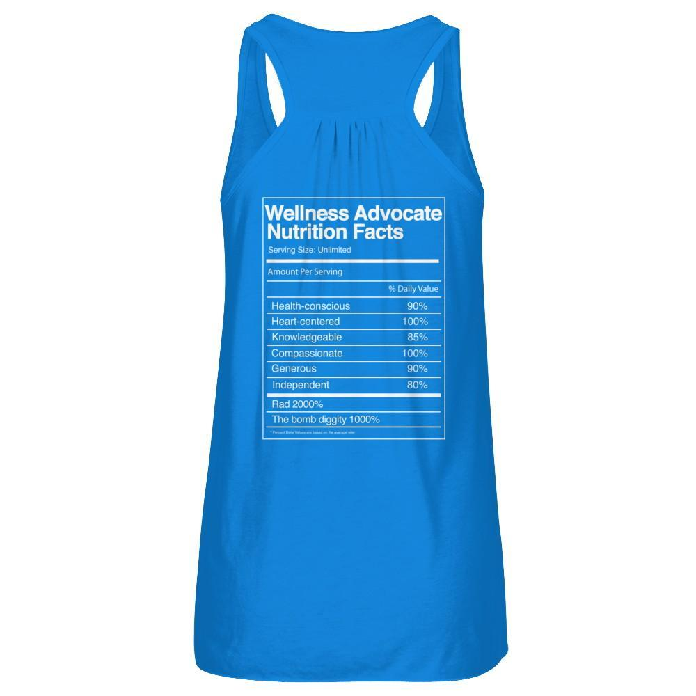 Wellness Advocate Nutrition Facts - Tank Essential Oil Style young living tshirts funny oil shirts popular oil shirts doterra tshirts convention shirts