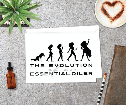 Essential Oil Greeting Cards - Evolution  | 5pk, 10pk, 25pk,50pk