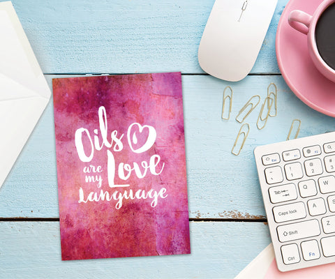 Essential Oil Greeting Cards - Oils are my Love Language' | 5pk, 10pk, 25pk, 50pk