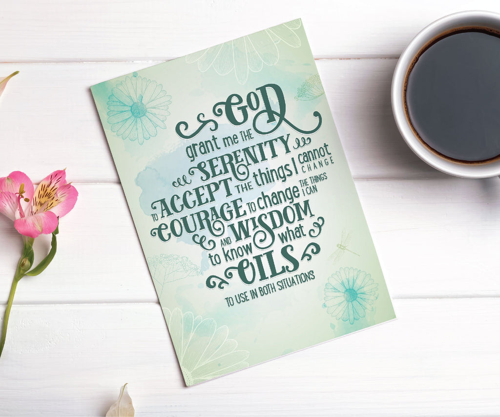 Essential Oil Greeting Cards - Serenity (oil) Prayer | 5pk, 10pk, 25pk, 50pk Essential Oil Style young living tshirts funny oil shirts popular oil shirts doterra tshirts convention shirts