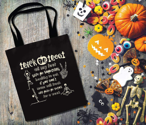 Halloween Trick or Treat Bag - Trick or Treat, Oil my Feet