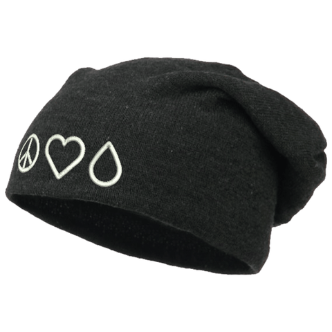 Beanie (Slouchy) - Peace • Love • Oil
