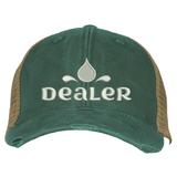 Distressed Trucker Hat - Dealer Essential Oil Style young living tshirts funny oil shirts popular oil shirts doterra tshirts convention shirts