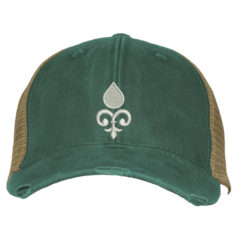 Distressed Trucker Hat - Essential Oil Style Icon