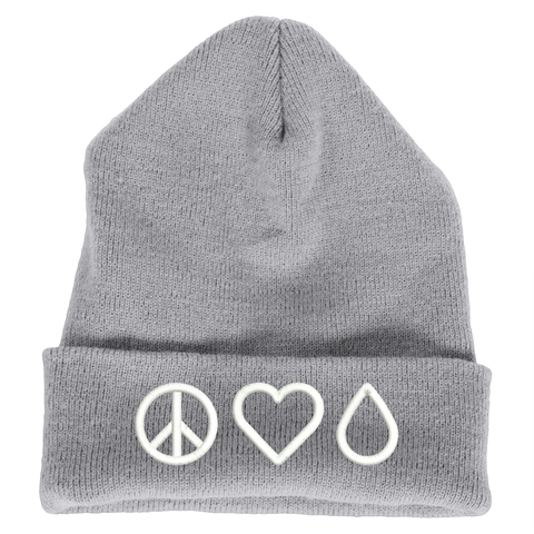 Beanie (Heavy Weighted Cuffed) - Peace • Love • Oil