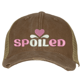 Distressed Trucker Hat - spOILed Essential Oil Style young living tshirts funny oil shirts popular oil shirts doterra tshirts convention shirts