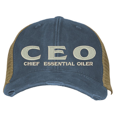 Distressed Trucker Hat - CEO
