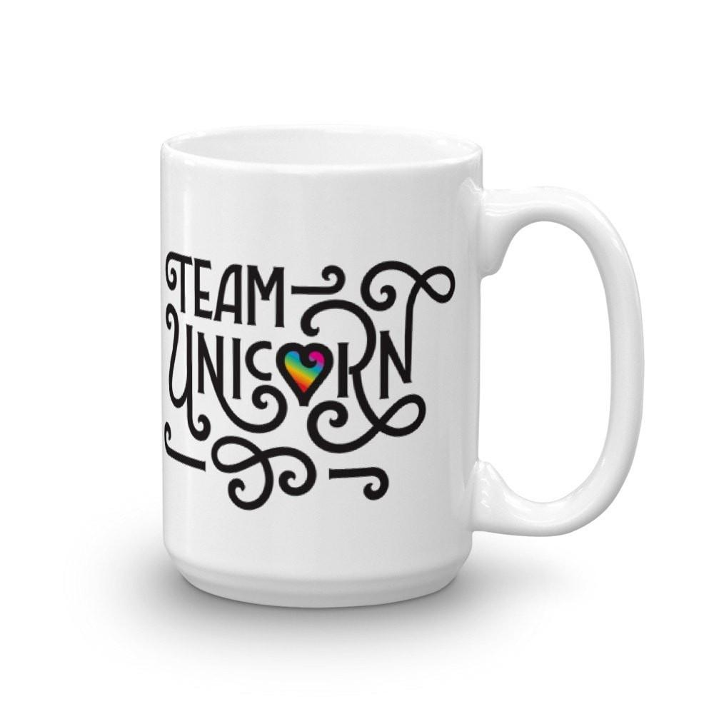 15oz Mug - Team Unicorn Essential Oil Style young living tshirts funny oil shirts popular oil shirts doterra tshirts convention shirts