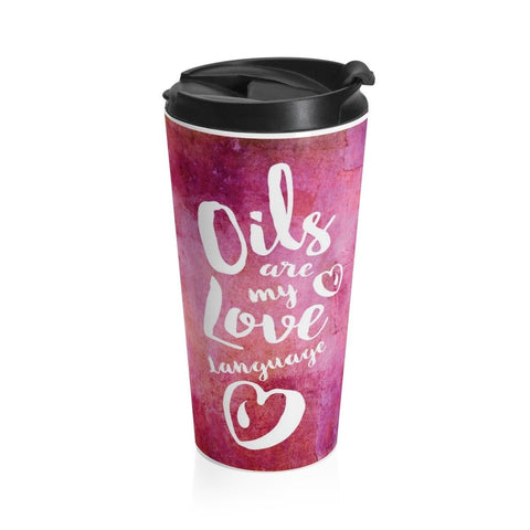 15oz Stainless Steel Travel Mug - Love Language