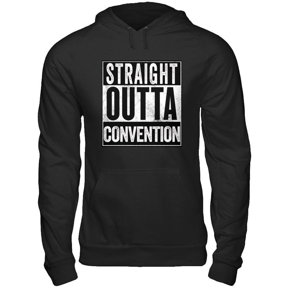STRAIGHT OUTTA CONVENTION - Unisex Pullover Hoodie Essential Oil Style young living tshirts funny oil shirts popular oil shirts doterra tshirts convention shirts