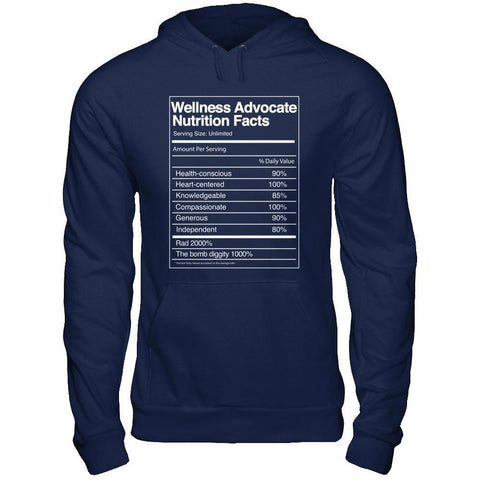 Wellness Advocate Nutrition Facts - Unisex Pullover Hoodie