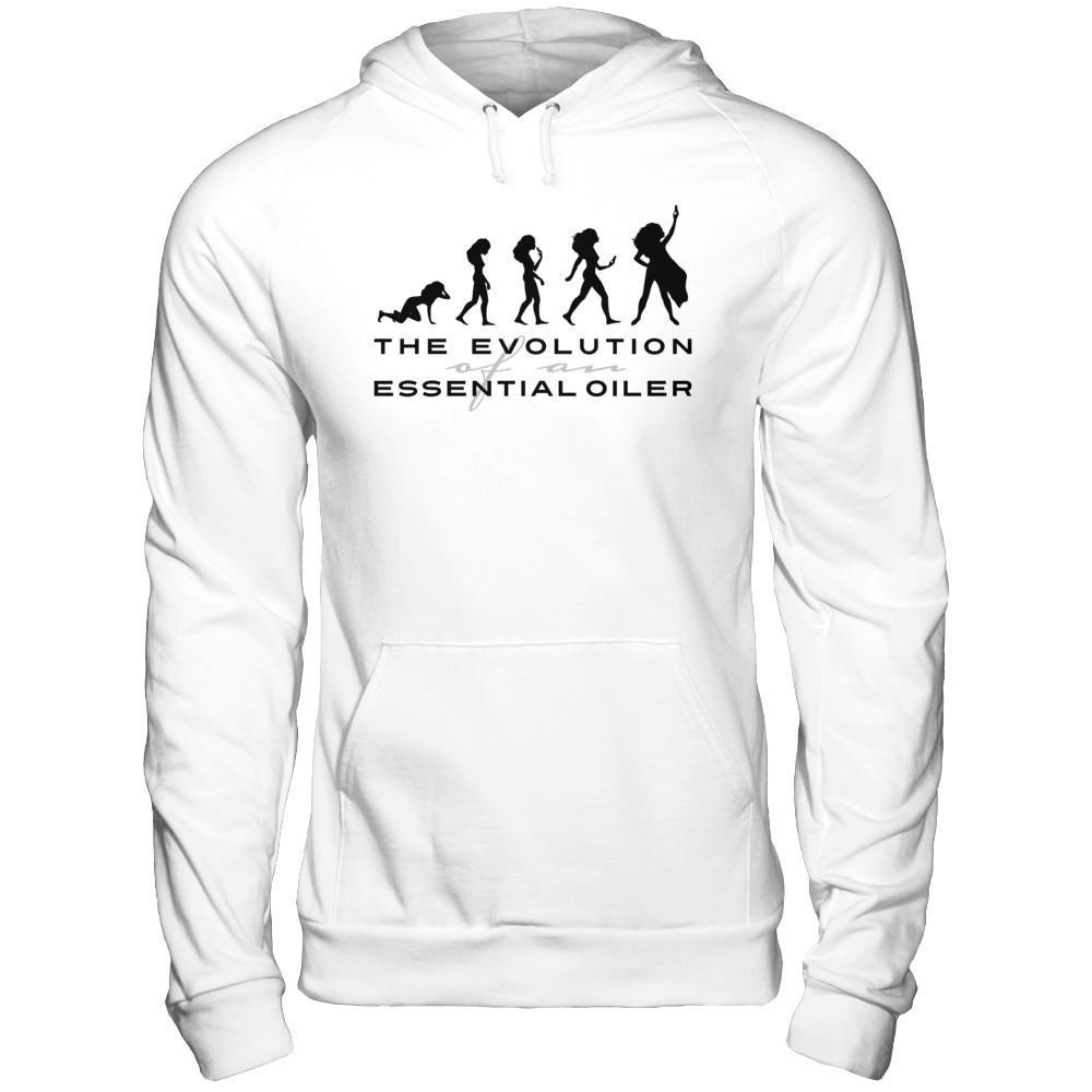 The Evolution of an Essential Oiler - Unisex Pullover Hoodie Essential Oil Style young living tshirts funny oil shirts popular oil shirts doterra tshirts convention shirts