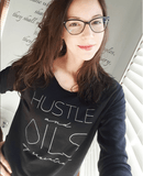 HUSTLE and OILS: my essentials - 3/4 sleeve Raglan Essential Oil Style young living tshirts funny oil shirts popular oil shirts doterra tshirts convention shirts