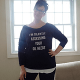 I'm Silently Assessing - 3/4 Sleeve Raglan Essential Oil Style young living tshirts funny oil shirts popular oil shirts doterra tshirts convention shirts