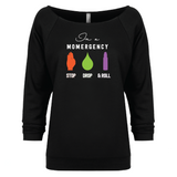 Momergency: STOP • DROP • ROLL - 3/4 Sleeve Raglan Essential Oil Style young living tshirts funny oil shirts popular oil shirts doterra tshirts convention shirts