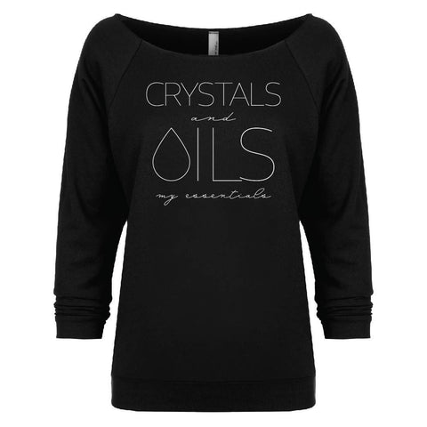 CRYSTALS and OILS: my essentials - 3/4 Sleeve Raglan