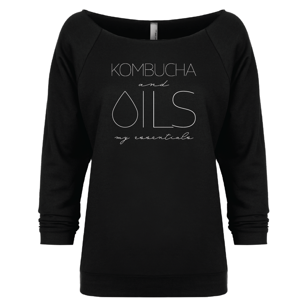 KOMBUCHA and OILS: my essentials - 3/4 sleeve Raglan Essential Oil Style young living tshirts funny oil shirts popular oil shirts doterra tshirts convention shirts