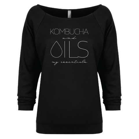 KOMBUCHA and OILS: my essentials - 3/4 sleeve Raglan