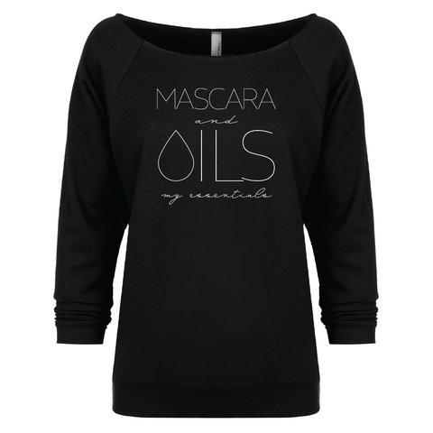 MASCARA and OILS: my essentials - 3/4 Sleeve Raglan