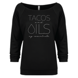 TACOS and OILS: my essentials - 3/4 Sleeve Raglan Essential Oil Style young living tshirts funny oil shirts popular oil shirts doterra tshirts convention shirts