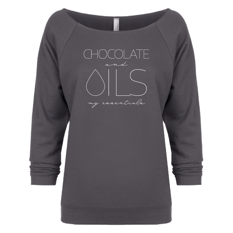 CHOCOLATE and OILS: my essentials - 3/4 Sleeve Raglan