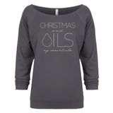 CHRISTMAS and OILS my essentials 3/4 Sleeve Raglan Essential Oil Style young living tshirts funny oil shirts popular oil shirts doterra tshirts convention shirts