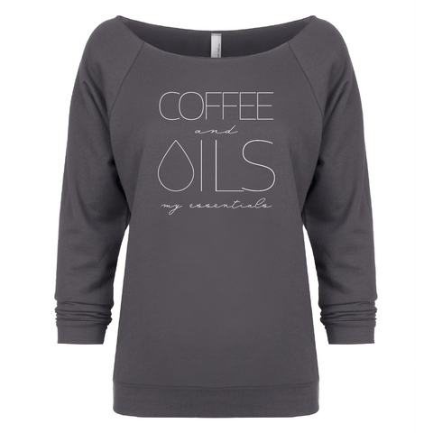 COFFEE and OILS: my essentials - 3/4 Sleeve Raglan