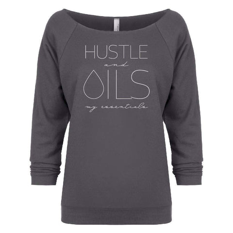 HUSTLE and OILS: my essentials - 3/4 sleeve Raglan (Outlet)