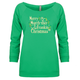 Merry Myrrh-ther Frankin' Christmas - 3/4 Sleeve Raglan Essential Oil Style young living tshirts funny oil shirts popular oil shirts doterra tshirts convention shirts