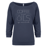 COFFEE and OILS: my essentials - 3/4 Sleeve Raglan Essential Oil Style young living tshirts funny oil shirts popular oil shirts doterra tshirts convention shirts