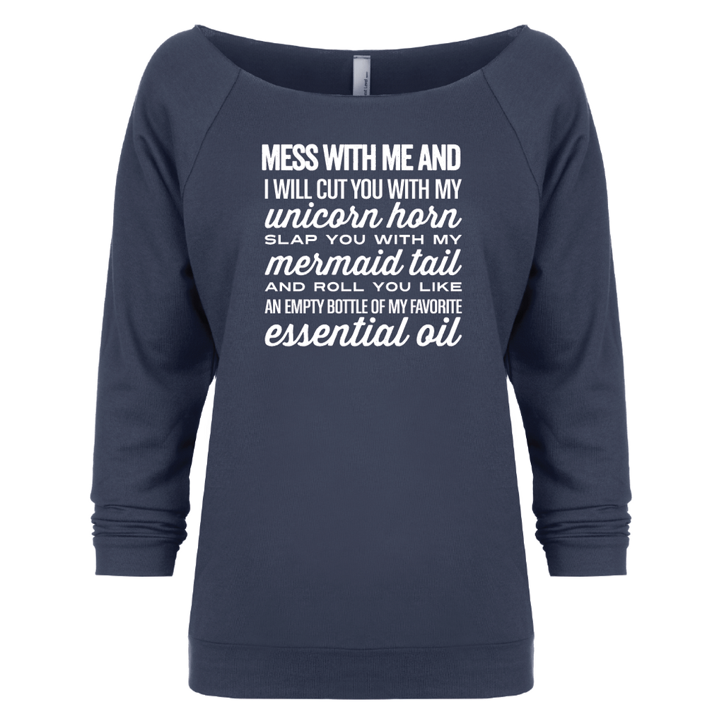 3b53253d06 I will cut you - 3/4 Sleeve Raglan Essential Oil Style young living tshirts