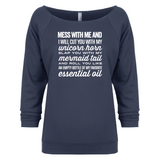 I will cut you - 3/4 Sleeve Raglan Essential Oil Style young living tshirts funny oil shirts popular oil shirts doterra tshirts convention shirts
