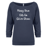Messy Bun - 3/4 Sleeve Raglan Essential Oil Style young living tshirts funny oil shirts popular oil shirts doterra tshirts convention shirts