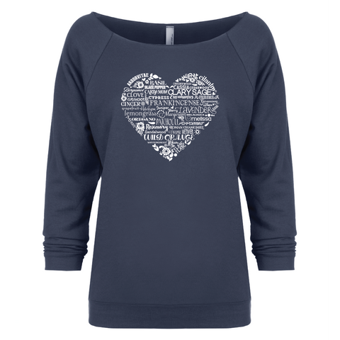 Whimsical Heart - 3/4 Sleeve Raglan