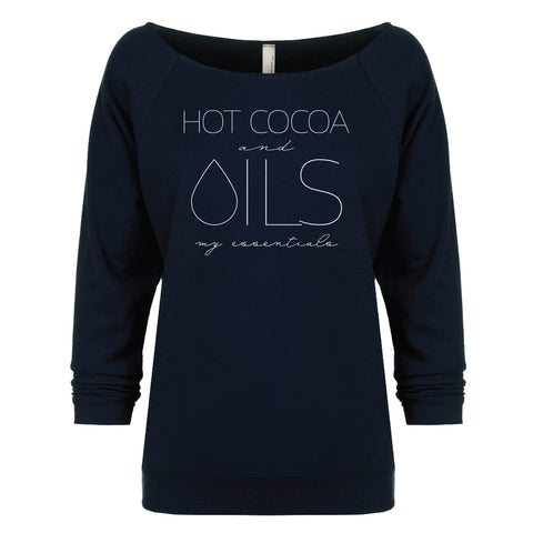 HOT COCOA and OILS my essentials - 3/4 Sleeve Raglan