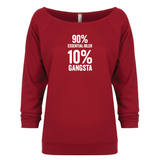10% Percent GANGSTA - 3/4 Sleeve Raglan Essential Oil Style young living tshirts funny oil shirts popular oil shirts doterra tshirts convention shirts