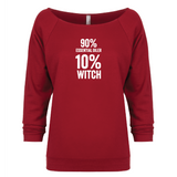 10% Percent WITCH - 3/4 Sleeve Raglan Essential Oil Style young living tshirts funny oil shirts popular oil shirts doterra tshirts convention shirts
