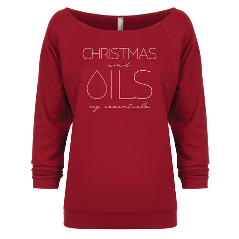CHRISTMAS and OILS my essentials 3/4 Sleeve Raglan